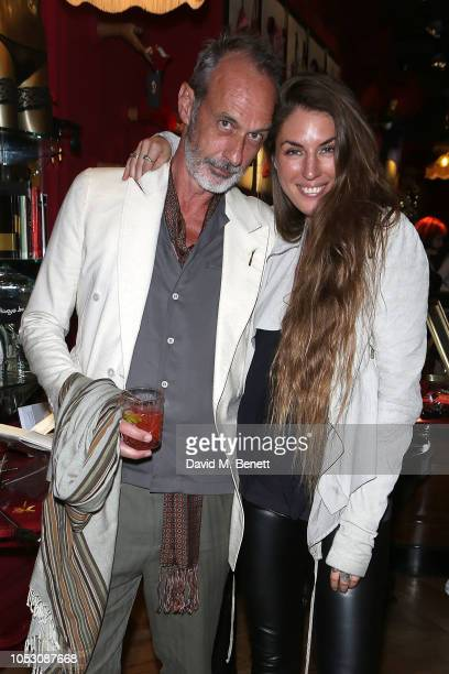 William Gilchrist and Wanda Orme attends the launch of Wanda Orme X Coco De Mer's new latex imagery on October 24 2018 in London England
