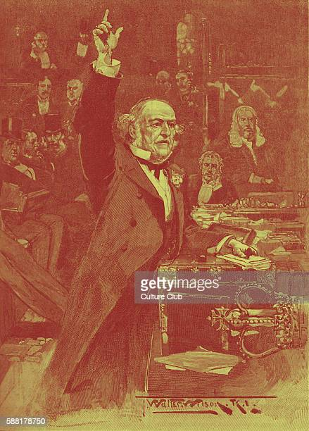 William Gladstone speaks for Home Rule Bill 1886 Liberal Prime Minister introduced first Home Rule Bill to House of Commons 8 April 1886 to create...