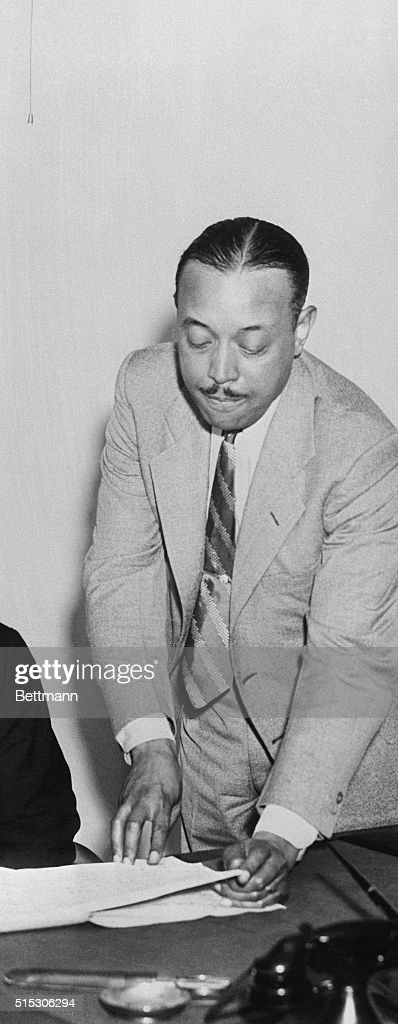 William Grant Still, right, a well known negro composer
