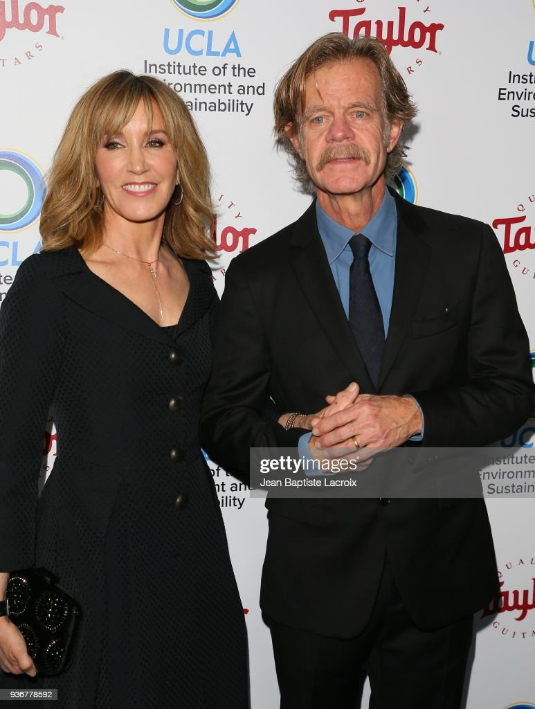 William H. Macy and Felicity Hoffman attend UCLA's 2018 Institute of the Environment and Sustainability Gala on March 22, 2018 in Beverly Hills, California.