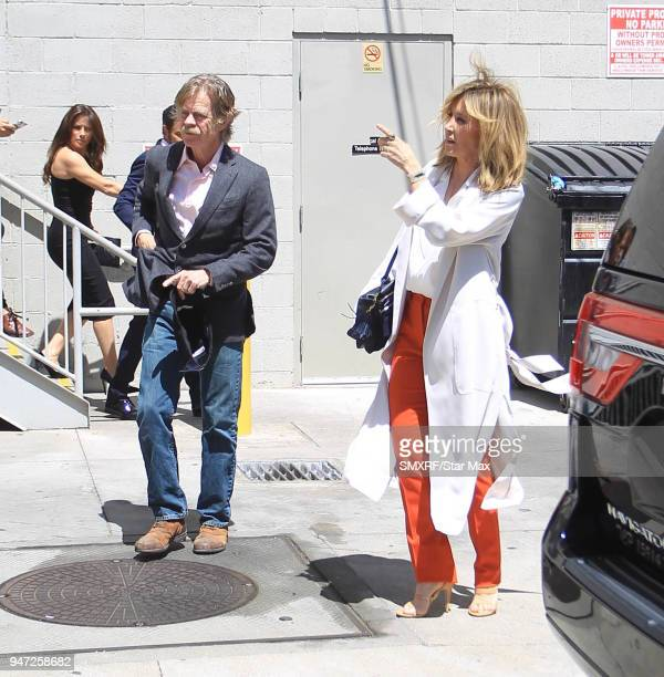 William H Macy and Felicity Huffman are seen on April 16 2018 in Los Angeles CA