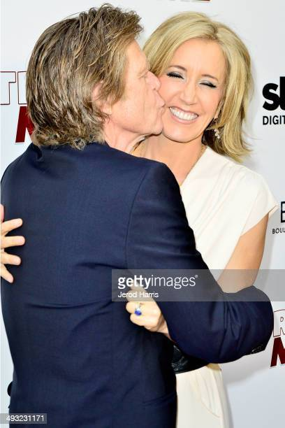 William H Macy and Felicity Huffman arrive at the Los Angeles Premiere of 'Trust Me' at the Egyptian Theatre on May 22 2014 in Hollywood California