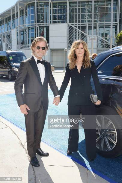 William H Macy and Felicity Huffman attend Audi at the 70th Annual Emmy Awards at Microsoft Theater on September 17 2018 in Los Angeles California