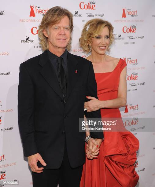William H Macy and Felicity Huffman attend backstage during The Heart Truth Red Dress Collection Fall 2010 during MercedesBenz Fashion Week at Bryant...