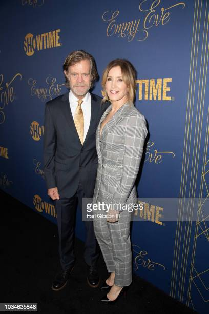 William H Macy and Felicity Huffman attend the Showtime Emmy Eve Nominees Celebration at Chateau Marmont on September 16 2018 in Los Angeles...