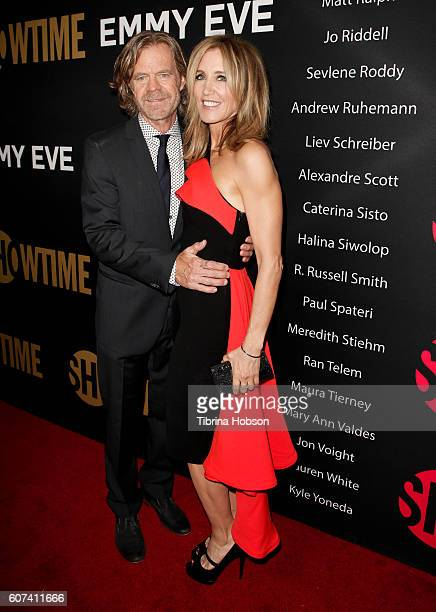 William H Macy and Felicity Huffman attend the Showtime Emmy Eve Party at Sunset Tower on September 17 2016 in West Hollywood California