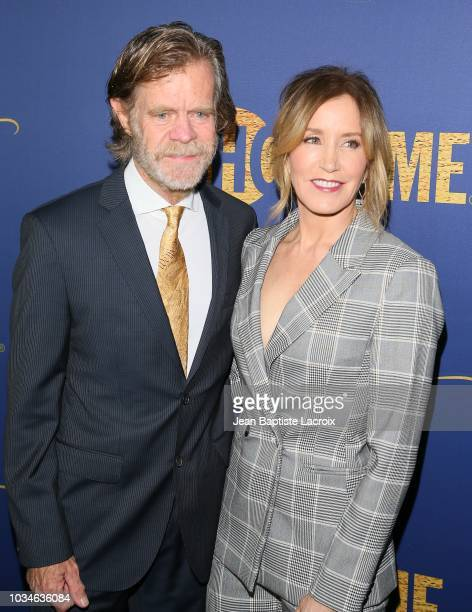 William H Macy and Felicity Huffman attend the Showtime Emmy eve nominees celebration on September 16 2018 in Los Angeles California