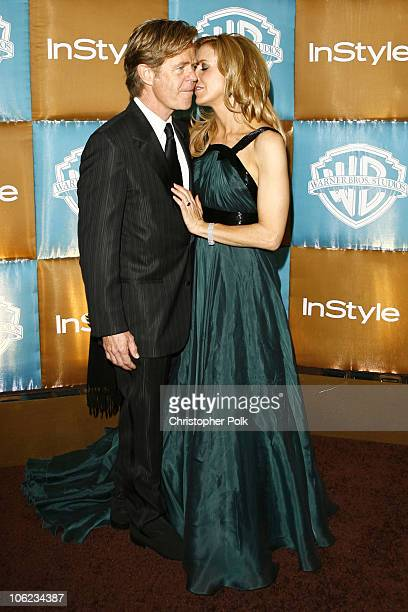 William H Macy and Felicity Huffman during In Style Warner Bros Studios Host 8th Annual Golden Globe Party Arrivals at Oasis Court Beverly Hilton...