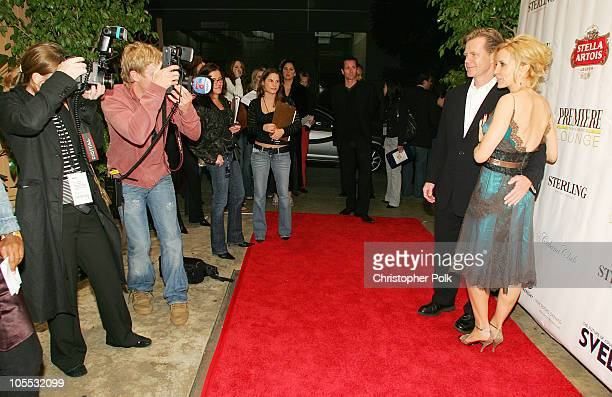 William H Macy and Felicity Huffman during Livestyle's AFI Premiere Lounge 2005 Screening of 'Transamerica' After Party Hosted by Bacardi Svedka...