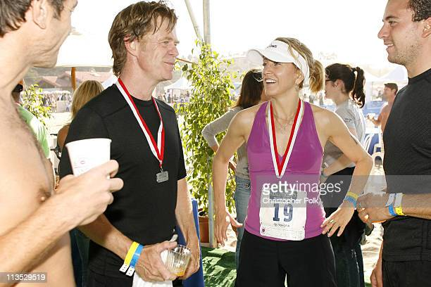 William H Macy and Felicity Huffman during The 20th Annual Nautica Malibu Triathlon for the Elizabeth Glaser Pediatric AIDS Foundation at Zuma Beach...
