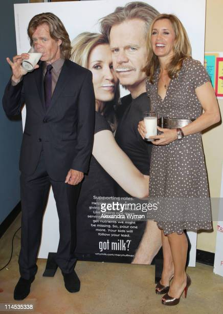 William H Macy And Felicity Huffman Unveil 'Got Milk' and scholastic parent child magazine 'family of the year' held at The Zimmer Museum on May 23...