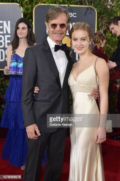William H Macy and Georgia Grace Macy attend FIJI Water at the 76th Annual Golden Globe Awards on January 6 2019 at the Beverly Hilton in Los Angeles...