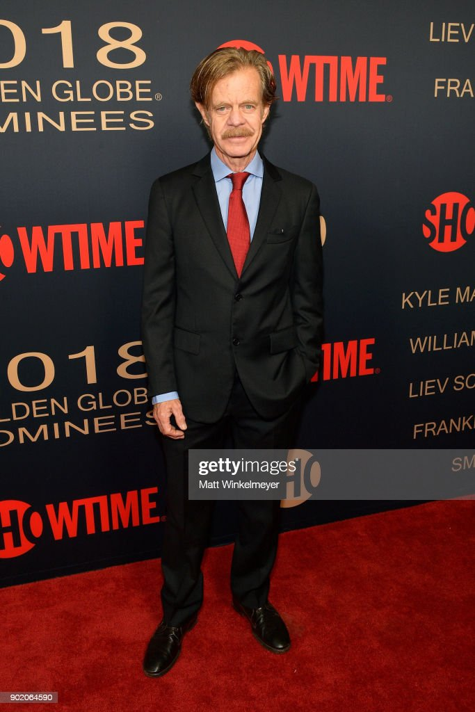 William H. Macy arrives for the Showtime Golden Globe Nominees Celebration at Sunset Tower on January 6, 2018 in Los Angeles, California.