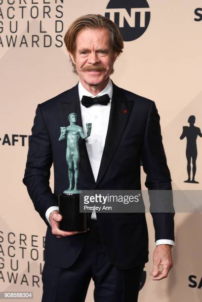 William H. Macy attends 24th Annual Screen Actors Guild Awards - Press Room on January 21, 2018 in Los Angeles, California.