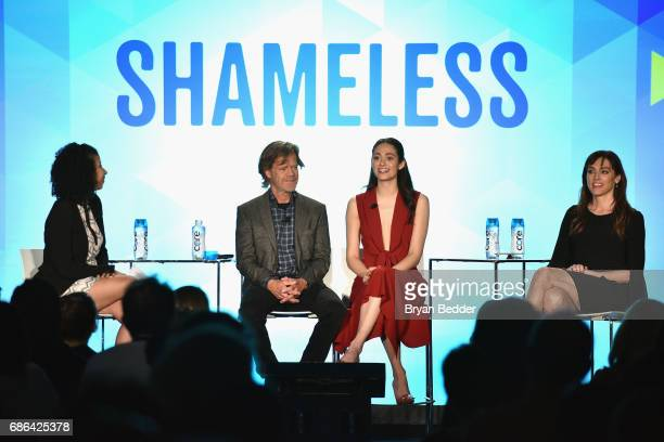 William H. Macy, Emmy Rossum and Nancy Pimental speak onstage at the Shamless panel during the 2017 Vulture Festival at Milk Studios on May 21, 2017...