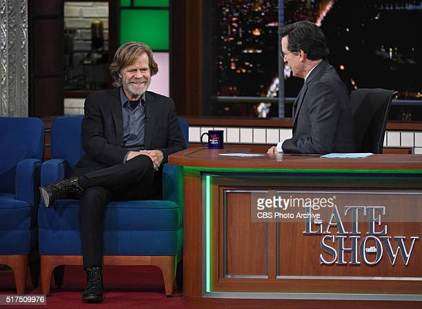 William H Macy on The Late Show with Stephen Colbert Thursday March 17 2016 on the CBS Television Network