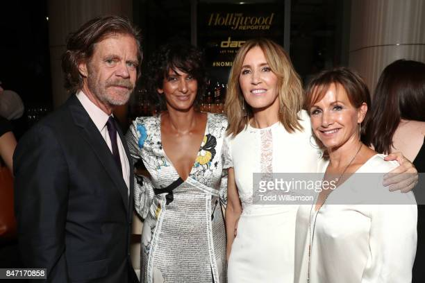 William H Macy Poorna Jagannathan Felicity Huffman and Gabrielle Carteris attend The Hollywood Reporter and SAGAFTRA Inaugural Emmy Nominees Night...