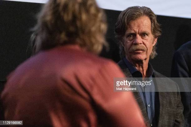 """William H. Macy speaks during a Q&A hosted by TheFilmSchool after a screening of the film """"Stealing Cars"""" at SIFF Uptown Cinema on March 7, 2019 in..."""