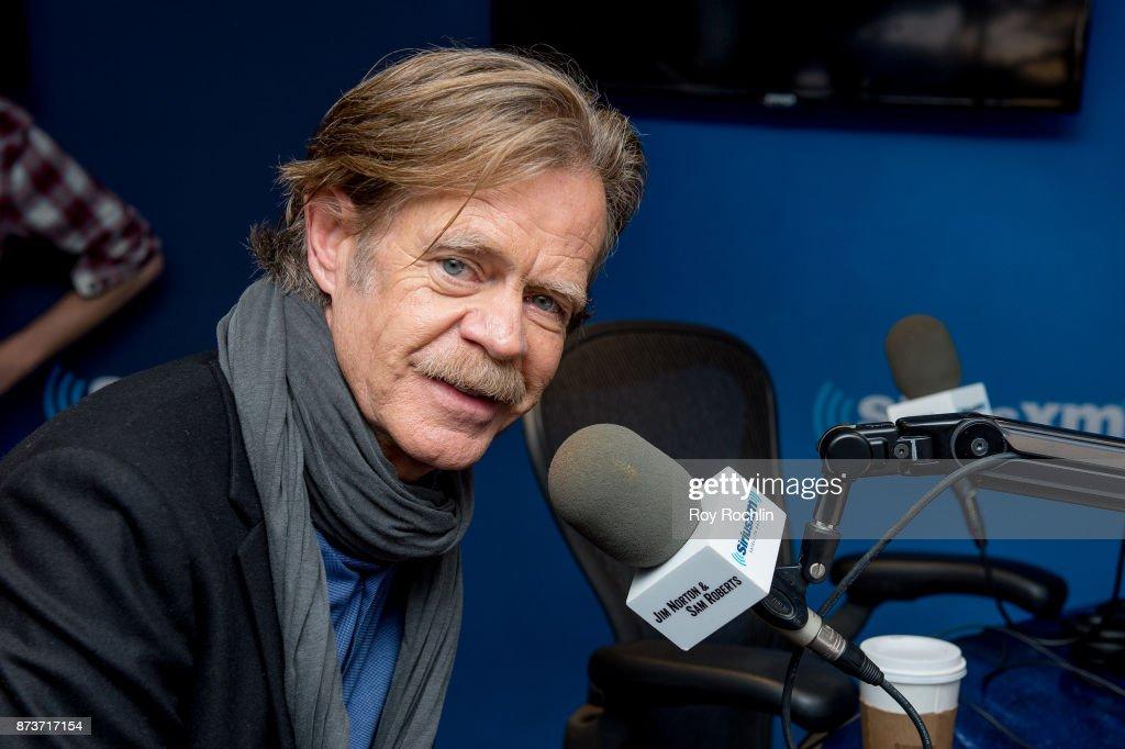 William H. Macy visits the Jim Norton and Sam Roberts show at SiriusXM Studios on November 13, 2017 in New York City.
