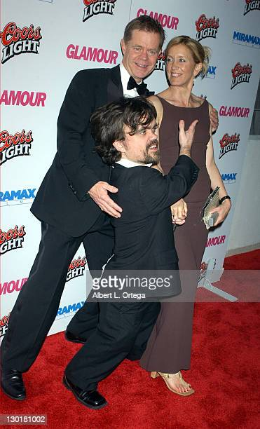 William H Macy wife Felicity Huffman and Peter Dinklage