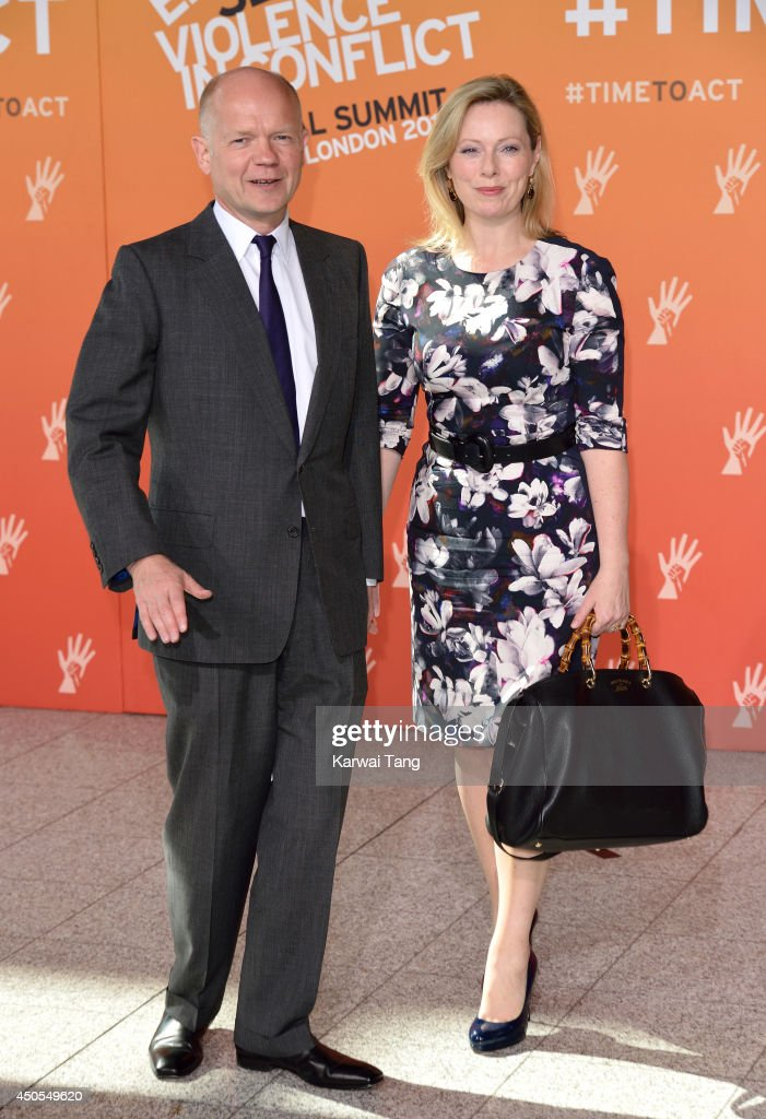 William Hague and Ffion Hague attend the Global Summit to end Sexual Violence in Conflict at ExCel on June 13, 2014 in London, England.