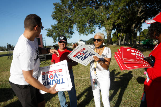 FL: Trump Supporters Gather In Tampa To Rally And Vote Early