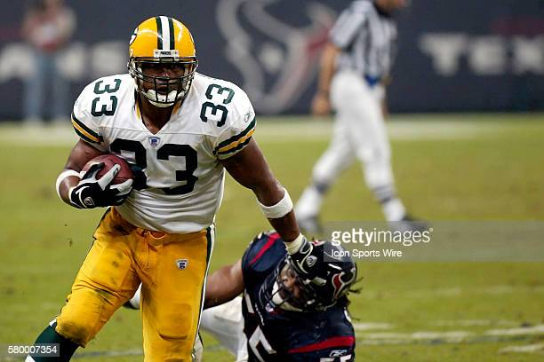 William Henderson fullback with the Green Bay Packers in the game against the Houston Texans at Reliant Stadium in Houston Texas on November 21 2004...