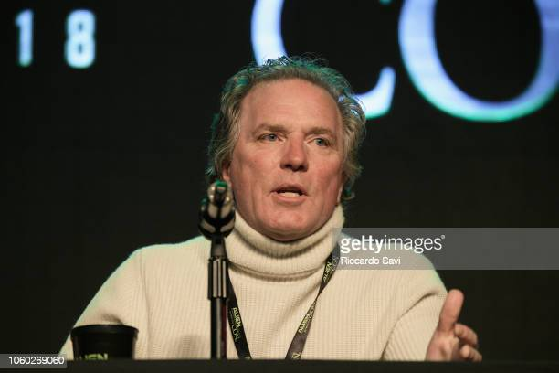 William Henry speaks onstage at Ancient Aliens Alien Engineering during day 3 of AlienCon Baltimore 2018 at Baltimore Convention Center on November...