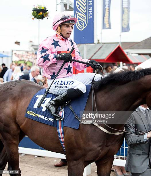 William Hill Ayr Gold Cup Jockey Silvestre De Souza riding Majestic Moon on September 19 2015 in Ayr Scotland