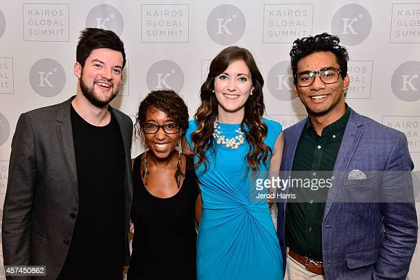 William Hines Jasmine Burton Rachel Ford and Waiz Rahim attend the 2014 Kairos Global Summit at RitzCarlton Laguna Nigel on October 18 2014 in Dana...