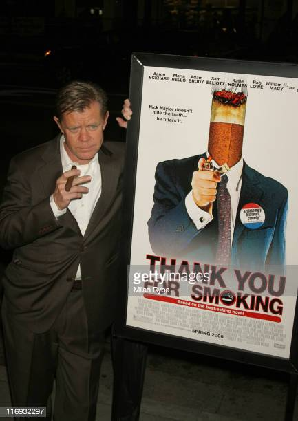 "William H.Macy during ""Thank You For Smoking"" Los Angeles Premiere - Arrivals at Directors Guild Of America in Los Angeles, California, United States."