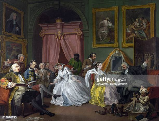 William Hogarth 16971764 'Marriage AlaMode' Number 4 'The Toilette' Marriage àlamode is a series of six pictures painted by William Hogarth between...