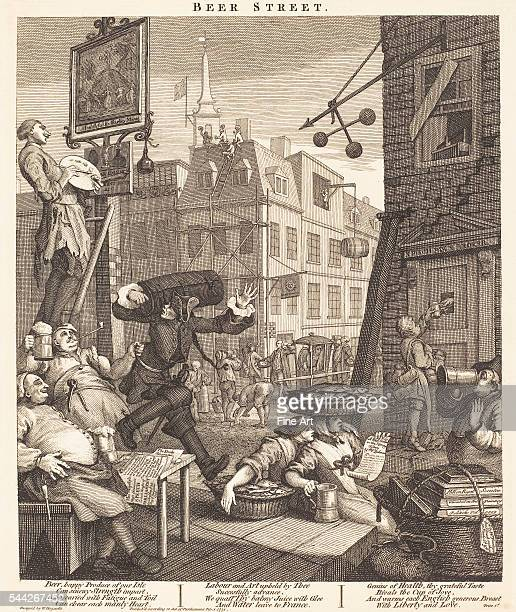 William Hogarth Beer Street etching and engraving state ii/iv National Gallery Washington DC