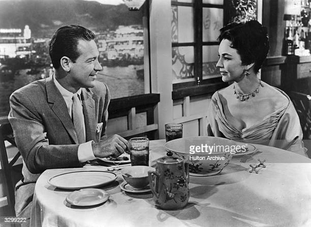 William Holden and Jennifer Jones appear in 'Love Is A Many Splendored Thing' directed by Henry King for 20th Century Fox