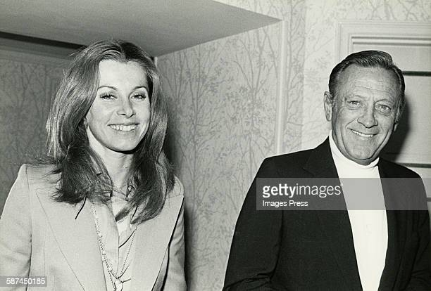 William Holden and Stefanie Powers circa 1980 in New York City