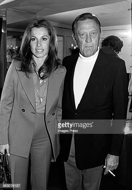 William Holden and Stephanie Powers circa 1980 in New York City