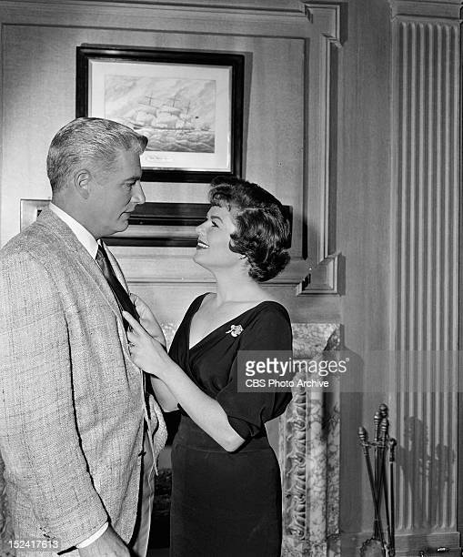 MASON William Hopper as Paul Drake and Barbara Hale as Della Street in 'The Case of the Loquacious Liar' Image dated September 8 1960
