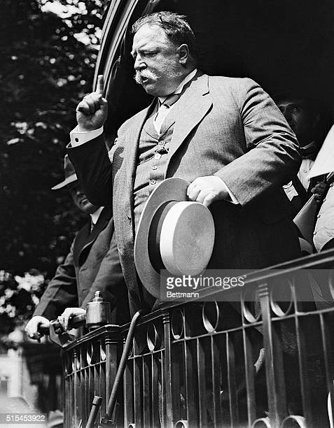 William Howard Taft making a campaign speech from a train platform He served as President from 1909 to 1913 Ca 19081912