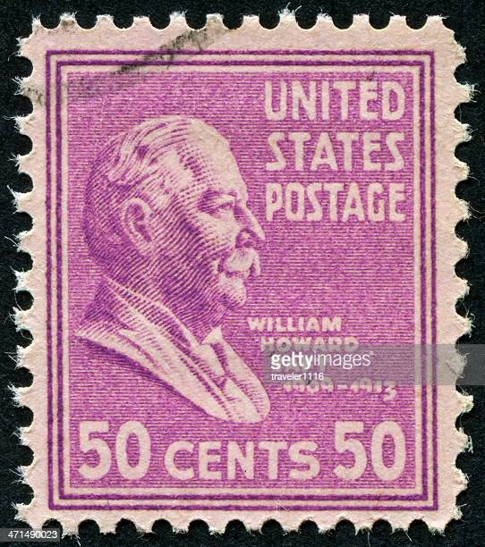 william howard taft stamp - william howard taft stock photos and pictures