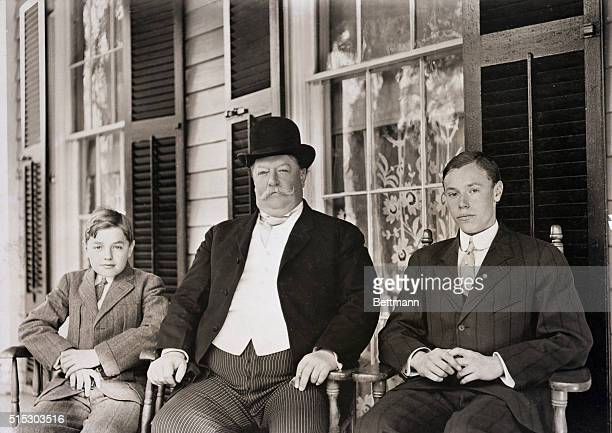 William Howard Taft: Taft and his sons, Robert and Charles Phelps. Undated.