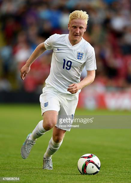 William Hughes of England during the international friendly match between England U21 and Belarus U21 at Oakwell Stadium on June 11 2015 in Barnsley...