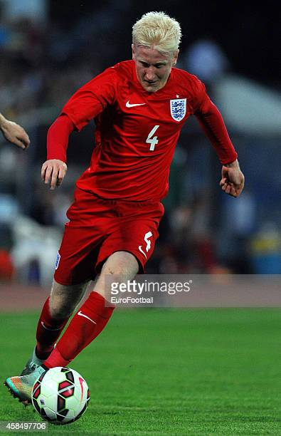 William Hughes of England in action during the UEFA U21 Championship Playoff Second Leg match between Croatia and England at the Stadion Hnk Cibalia...
