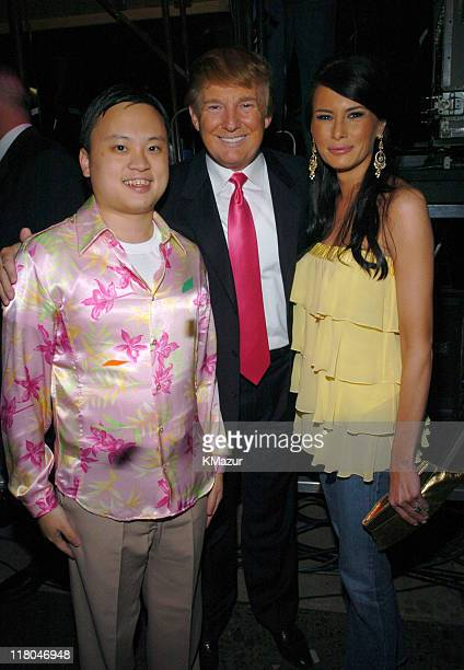 William Hung Donald Trump and Melania Knauss during Z100's Zootopia 2004 Backstage at Madison Square Garden in New York City New York United States