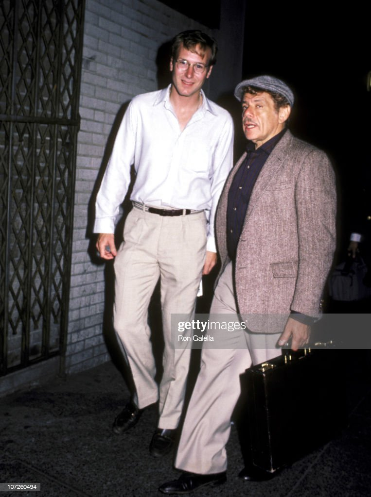 William Hurt and Jerry Stiller during 'Hurley Burly' Performance at the Promenade Theater in New York City - September 1, 1984 at Promenade Theater in New York City, New York, United States.