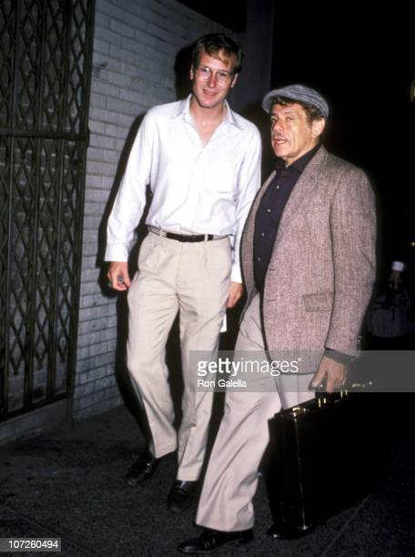 William Hurt and Jerry Stiller during 'Hurley Burly' Performance at the Promenade Theater in New York City September 1 1984 at Promenade Theater in...