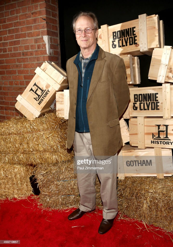 William Hurt attends the 'Bonnie And Clyde' series premiere at The McKittrick Hotel on December 2, 2013 in New York City.