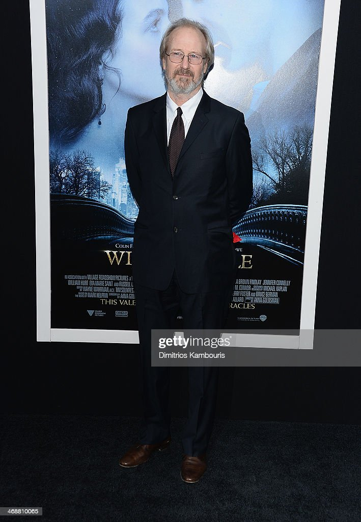 William Hurt attends the 'Winter's Tale' world premiere at Ziegfeld Theater on February 11, 2014 in New York City.