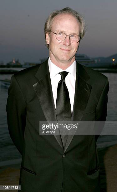 William Hurt during 2005 Cannes Film Festival 'A History of Violence' Party at Majestic Beach in Cannes France