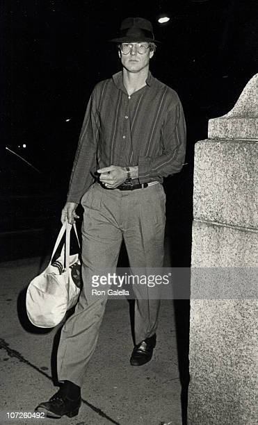 William Hurt during 'Hurley Burly' Performance at the Promenade Theater in New York City June 19 1984 at Promenade Theater in New York City New York...
