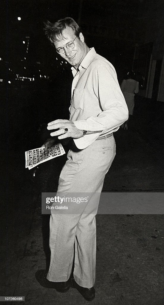 William Hurt during 'Hurley Burly' Performance at the Promenade Theater in New York City - September 23, 1984 at Promenade Theater in New York City, New York, United States.